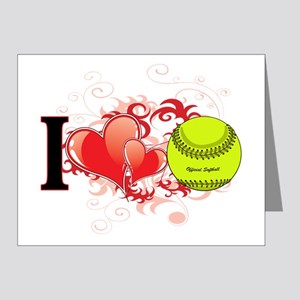 l love Softball Note Cards (Pk of 20)