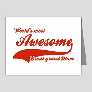 World's Most Awesome Great Grand mom Note Cards (P