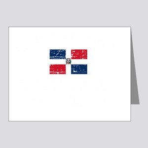 1DOMINICAN REP-black Note Cards (Pk of 20)