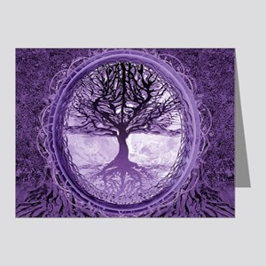 Tree of Life in Purple Note Cards
