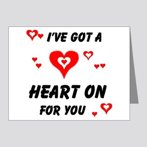 HEART ON FOR YOU Note Cards (Pk of 20)