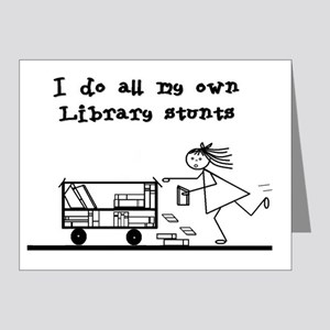 library stunts Note Cards (Pk of 20)