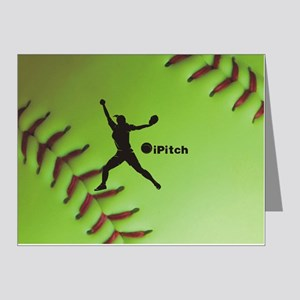 iPitch Fastpitch Softball (r Note Cards (Pk of 20)