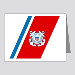 2-USCG-Racing-Stripe Note Cards (Pk of 20)