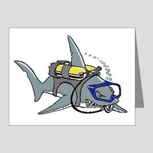 Scuba Shark Note Cards (Pk of 20)