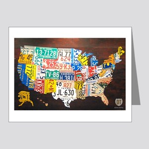 United States License Plate Map Note Cards (20)