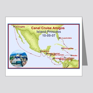 Island Princess- Canal Cruise Amigos- Note Cards (