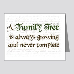 a Family Tree is...  Note Cards (Pk of 20)