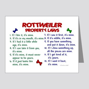Rottweiler Property Laws 2 Note Cards (Pk of 20)