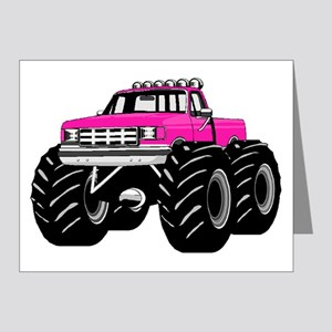 Pink MONSTER Truck Note Cards (Pk of 20)
