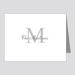 Monogrammed Duvet Cover Note Cards