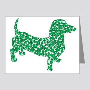 St. Patricks Day Dachshund Doxie Note Cards (Pk of