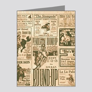 Vintage Rodeo Round-Up Note Cards (Pk of 20)