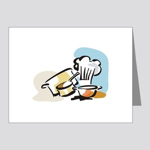 CHEF MONTAGE Note Cards