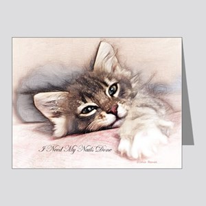 Kitten Nails Note Cards (pk Of 20)