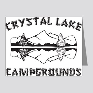 CRYSTALLAKEblack Note Cards (Pk of 20)