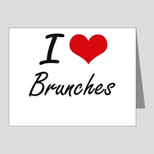 I Love Brunches Artistic Design Note Cards
