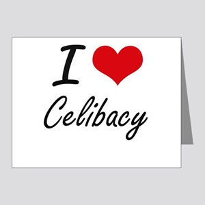I love Celibacy Artistic Design Note Cards