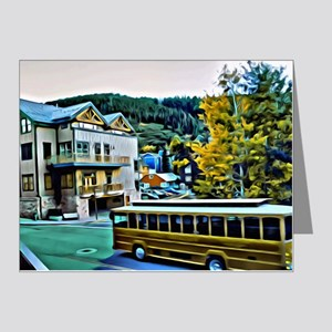 Park City Trolley Scene Note Cards (Pk of 20)