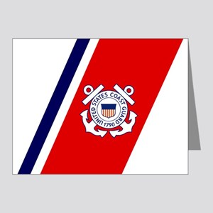 USCG-Racing-Stripe-... Note Cards