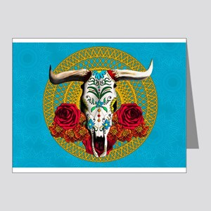 SUGAR COW SKULL Note Cards