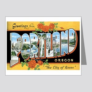 Portland Oregon OR Note Cards (Pk of 20)