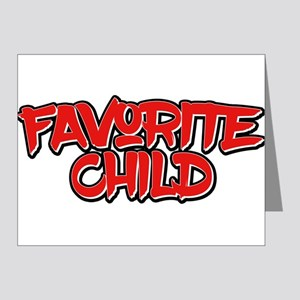 """Favorite Child"" T-Shirt Funn Note Cards"