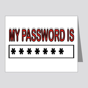 MY PASSWORD Note Cards (Pk of 20)