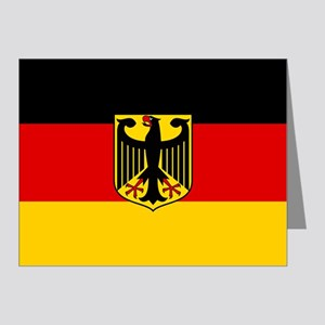 Flag: German & Coat of Arms Note Cards (Pk of 20)