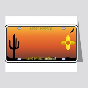 New Mexico License Plate Note Cards