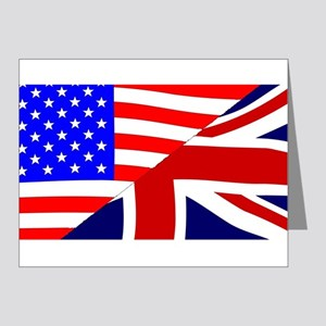 USA and UK Flags Note Cards