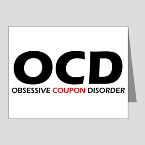 Obsessive Coupon Note Cards (Pk of 20)