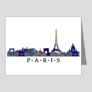 Mosaic Skyline of Paris France Note Cards