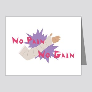 No Pain No Gain Note Cards