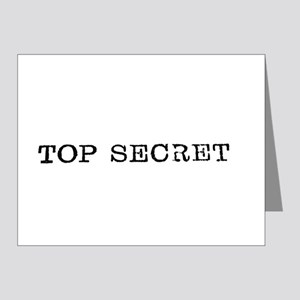 Top Secret Typewriter Type Note Cards
