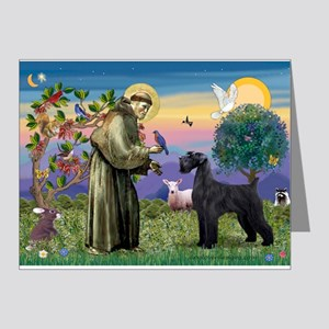 St. Francis & Giant Schnauzer Note Cards (Pk of 20