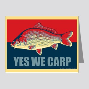 Yes We Carp Note Cards (Pk of 20)