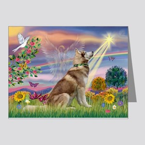 Cloud Angel & Husky Note Cards (Pk of 20)