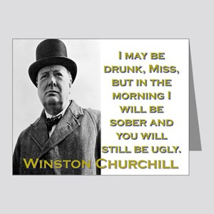 I May Be Drunk - Churchill Note Cards (Pk of 20)