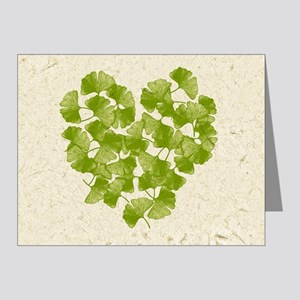 Ginkgo Leaf Heart Note Cards (Pk of 20)