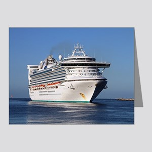 Golden Princess cruise ship Note Cards