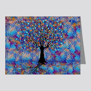 Colorful Tree of Life Tree Carnival by Note Cards