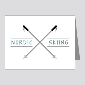Nordic Skiing Note Cards