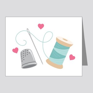 Heart Sewing supplies Note Cards