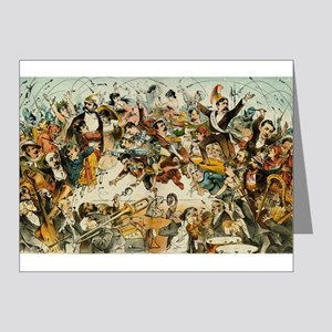 The Operatic War Vintage Illustration Note Cards