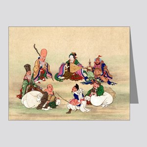 Seven gods of good luck - Anon - 1878 Note Cards