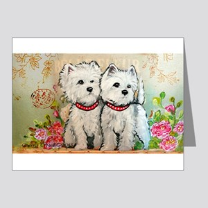 Spring Westies Note Cards (Pk of 20)