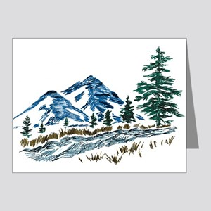 Sketch Mountain Scene (pk Of 20) Note Cards