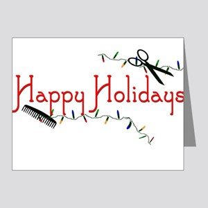 Hairstylist Holiday Card Note Cards