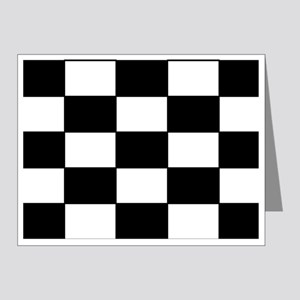 Checkered Pattern Note Cards